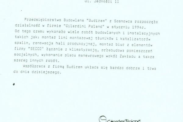 Sosnowie, 1994