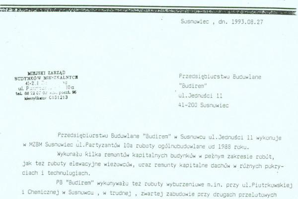 Sosnowiec, 27.08.1993